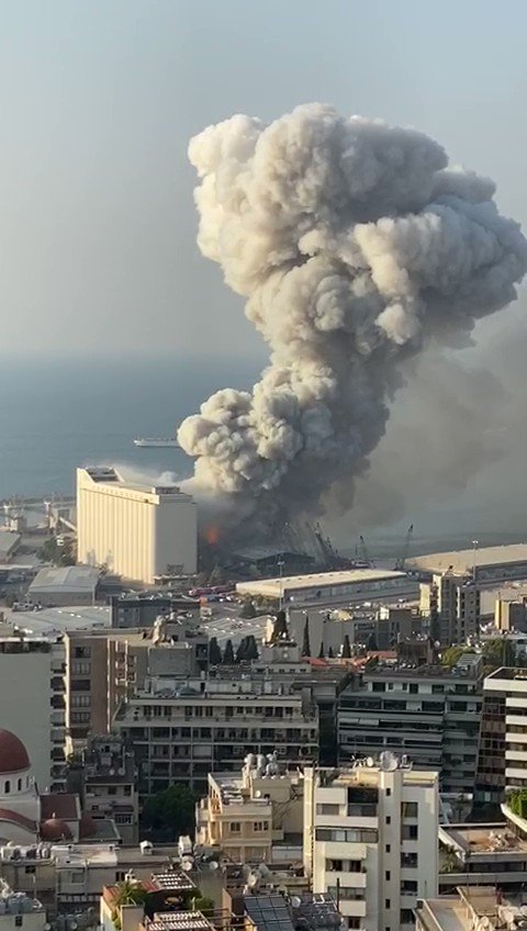 Terrifying footage is coming out of Beirut...