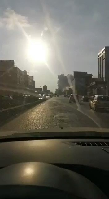 A view of the Beirut explosion from a dashcam. Imagine driving and seeing this.