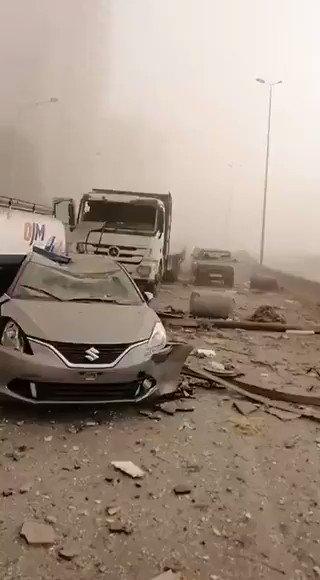 """#4Ago 🇱🇧Así quedaron las calles y edificios en la capital de Líbano, Beirut, tras una explosión este martes. El Ministerio de Salud del país pidió a todos los hospitales a prepararse para recibir a un número """"muy alto"""" de heridos #TVVNoticias #TV Video: Cortesía."""