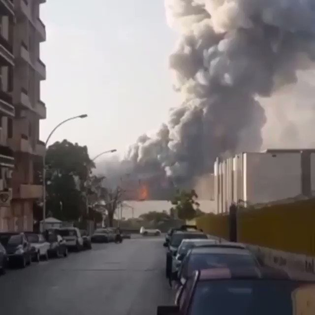 Incredible close in view of the explosion in Beirut today #Lebanon #Beirut