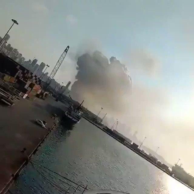 Massive Explosion Lebanon c  #Beirut #Lebanon
