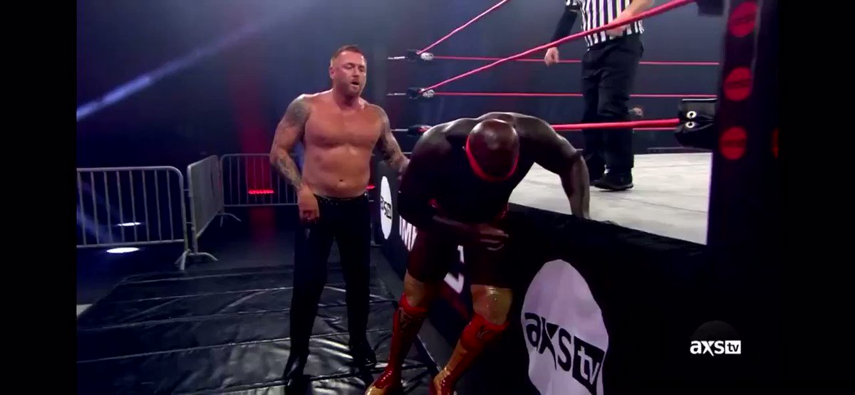 Josh Mathews with the 24/7 title burn on Impact last night while listing Heath Slater's WWE accomplishments.