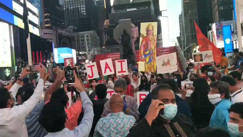 Live from Times Square,  New York  #JaiSiyaRam