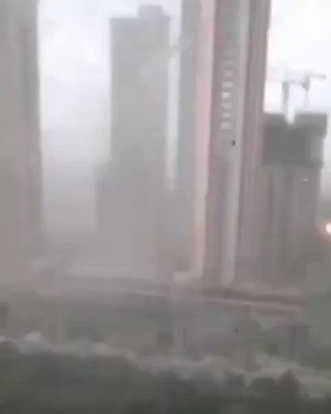 "(This happened in Shenyang, China just after the ""Mothership"" lightning cloud appeared in Beijing. Not a coincidence.)  #NEIOH  This is a Laser that destroyed a contained area where many new viruses were being used in experiments."