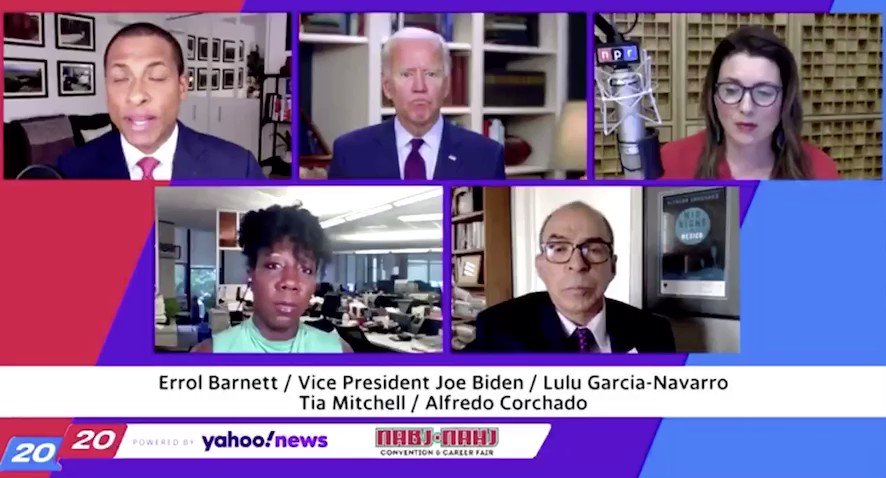 """Regardless of your choice for President in November, this video is deeply concerning.  When asked about a cognitive test, which Biden previously claims he'd taken, he lashed out at @ErrolBarnett and asked him if he was a """"cocaine junkie"""".  Something is wrong here."""