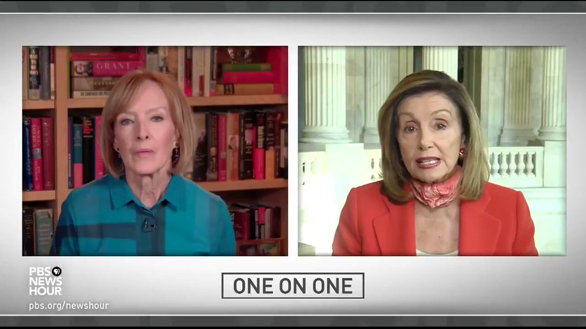 Pelosi flips out at Judy Woodruff here because Woodruff isn't trying to bury the evidence that Democrats are purposely obstructing the stimulus bill because they'd rather see Republicans take a loss than see people receive relief: