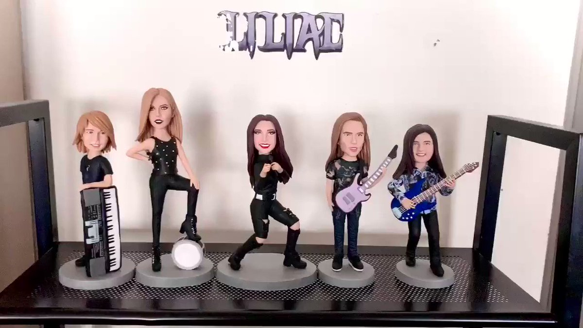 🔥PERSONALIZED FIGURES🔥 👉🏻How cool & exciting is to own these beautiful❤️One of a Kind, Hand made out of Clay➖Fantasy Personalized Figure of 🦇LILIAC's Band Members: •Samuel •Abigail  •Melody •Ethan •Justin  ⚡️Website: