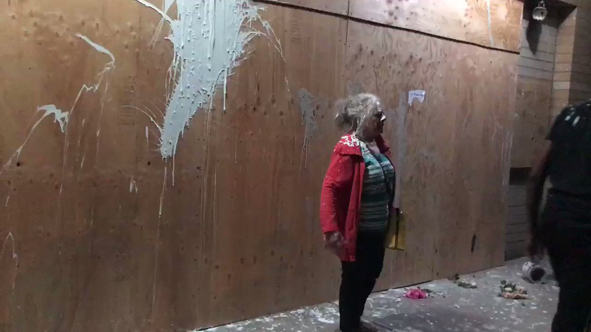 """Antifa splashed paint at an elderly Portland woman and verbally abused her. """"This isn't your world anymore."""""""
