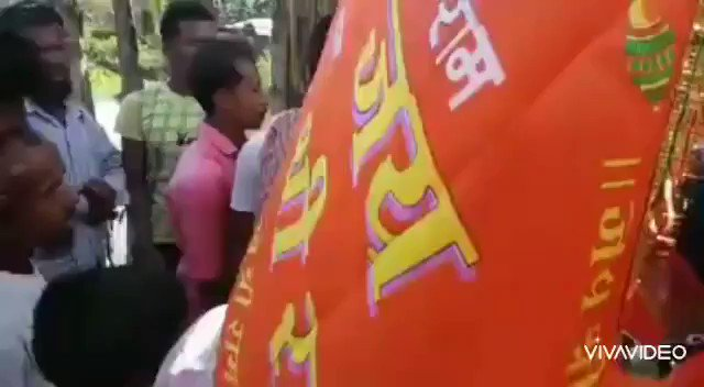 """During #RamMandirBhumiPujan Ram Bhakts organized a Rally in Thelamara, Dhekiajuli, Assam. Some Babur Descendants attacked them and also shouted """"Pakistan Zindabad"""" when they chanted""""Jai Shree Ram"""".  @TheAshokSinghal Sir was right. Such atrocities should not be tolerated."""