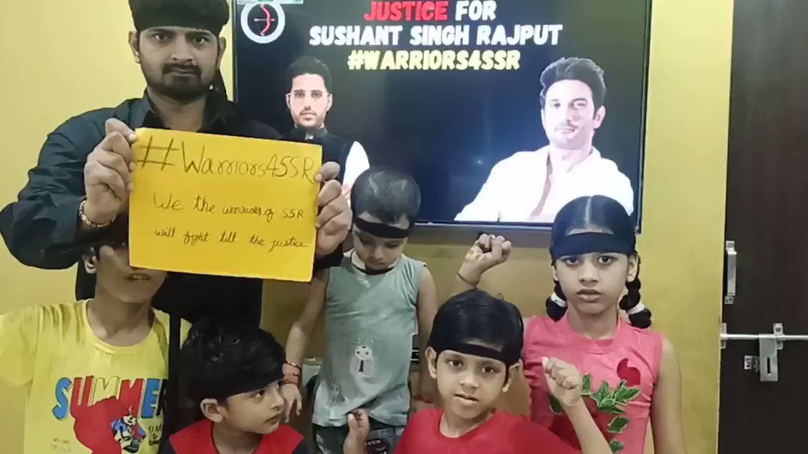 Warriors 🔥🔥🔥  Fighting for justice.... Truth will prevail  @ishkarnBHANDARI sir, I have made a video for protest with your shared theme song. Pls share.  #Warriors4SSR