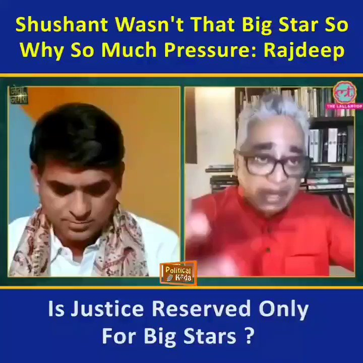 For So Called Journalists like Rajdeep only life of big stars matter,  Even Shushant Singh Rajput wasn't a big star for him just imagine what they wIll think about life of us common people...
