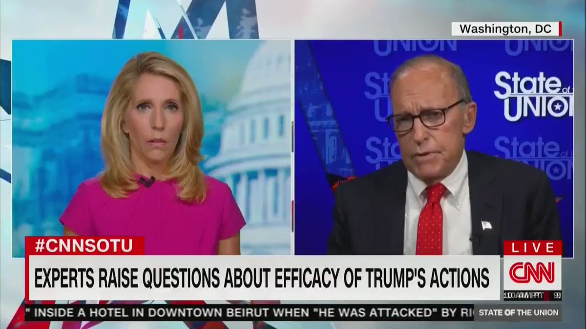 Larry Kudlow seems to be very confused about how much money unemployed people would actually receive under Trump's proposal