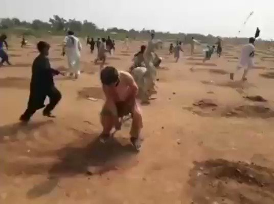 """Modi Ji on Earth Day started """"Plant Trees"""" project because it has many benefits. Now Pakistan PM Imran Khan is copying Modi & started the """"Tree Plantation Drive"""". Look at these idiot vultures in Pakistan ripping out all the trees. They said """"Planting trees is against Islam""""."""