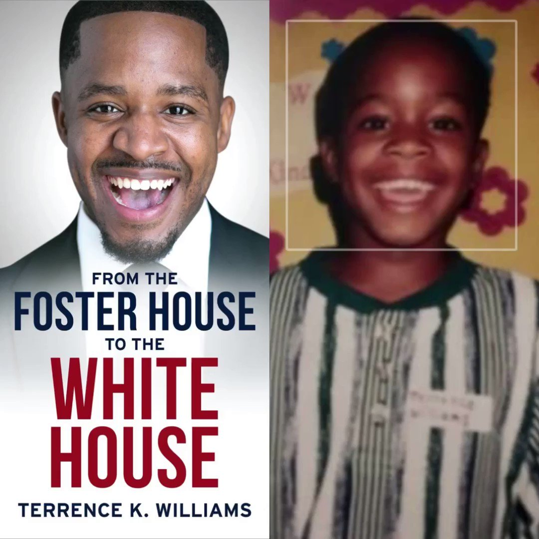 I dealt with a lot of pain growing up in foster care but through all the pain I always kept a smile on my face. A little poor boy from Oklahoma went From The Foster House to the White House & met President @realDonaldTrump   I share it all in my new book 👉