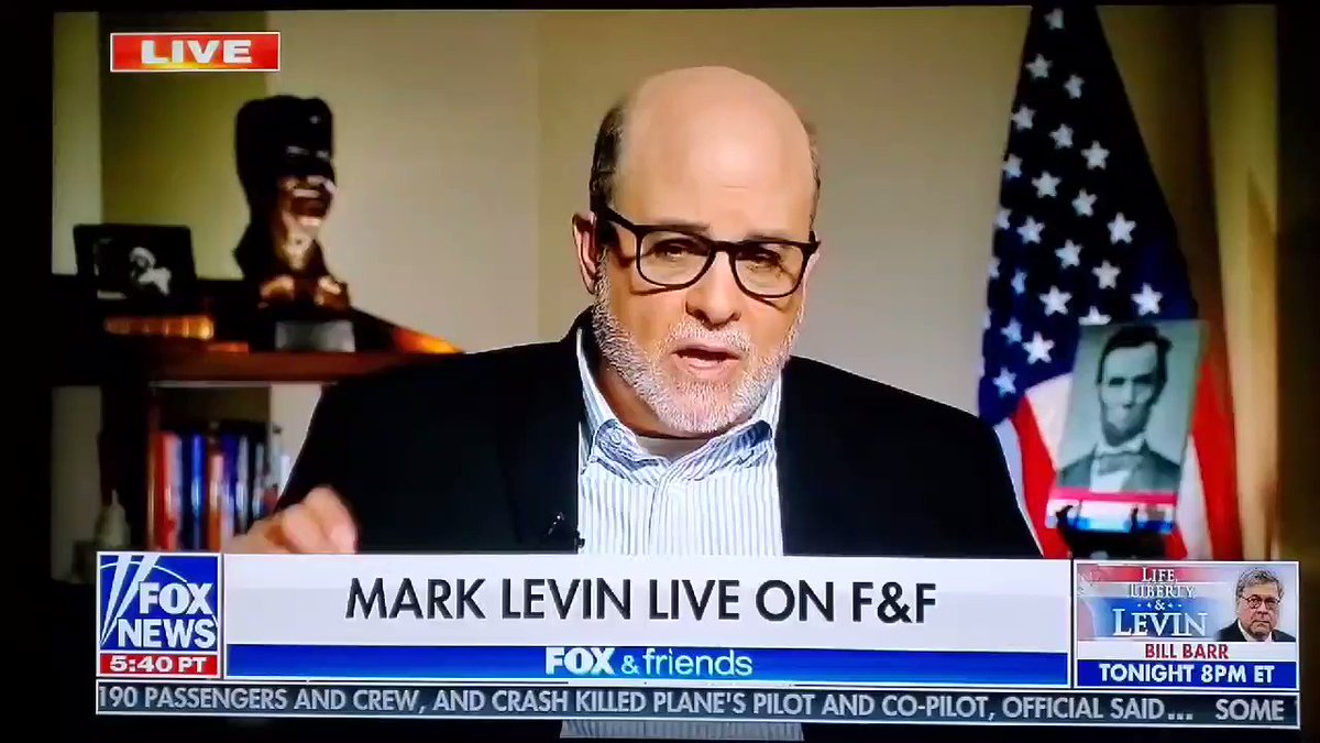 """"""" We have @JoeBiden who in (09) was in charge of (H1N1) it didn't go so well  His own (C.O.S) """"Man we screwed up""""   Obama shut down the counting, they said what's the use, it's a Pandemic   The American people are onto the Left  @marklevinshow ✔  LEVIN IS ALWAYS WORTH THE LISTEN"""