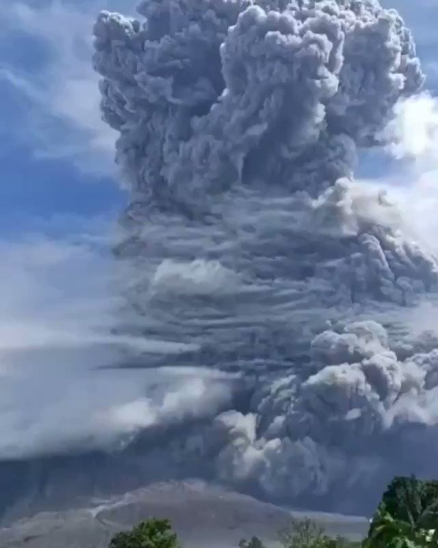 It wouldn't be 2020 if we didn't also have a volcanic eruption. Mt. Sinabung in Sumatra has erupted.