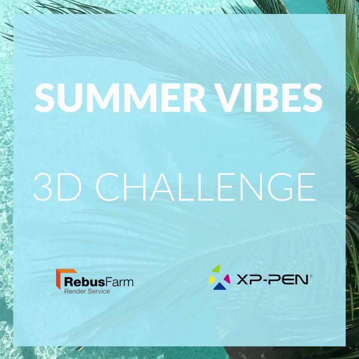 There are still 6 days left to participate in @RebusFarm & @xppen present the Summer Vibes 3D Challenge!   Submit a Summer 3D image & get a chance to win these amazing prizes!  Submission period: July 15 – Aug 15 2020  Submit:   #rebusfarm #summerchallenge