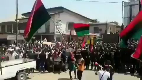 """""""Ipob rally unavoidable referendum for the indigenous people of biafra ipob under the leadership of mazi Nnamdi kanu   We cannot live together peacefully. It is better we separate. Let people who share similar language, culture and history live together #RejectNigeria #BiafraExit"""