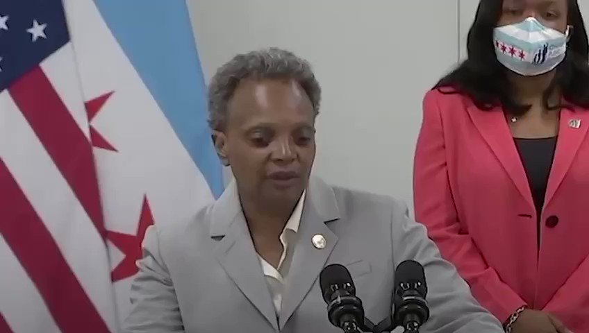 """FLASHBACK: On July 17th, @ChicagosMayor Lori Lightfoot said President Trump wanted to send Federal Law Enforcement to Chicago to make them look bad and """"score points"""".  """"The Mayors are getting it done."""""""