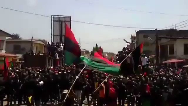 IPOB Rally!  Biafrans: We Are Only As Strong As We Are United, As Weak As We Are Divided. We Can Continue To Fight Amongst Ourselves, While #CaliphateRule Over Us Nigeria Or We Can Stand Together & Fight For Our Freedom For #Sake Of Our Generations Unborn. #BiafraExit @Amaka_Ekwo