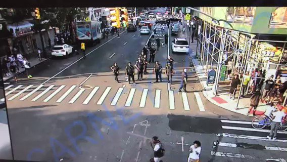 Despite one newspaper's account, our officers who came to the assistance of an 11-year-old girl being assaulted in Harlem on Sunday did not stand by. They were met by a large crowd that hurled projectiles at them and had to reposition, then called for additional officers.