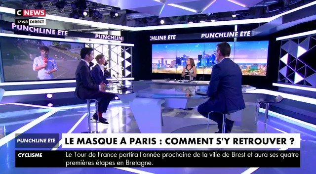 «Si vous prenez la mauvaise rue à Paris sans porter de masque, vous écoperez d'une amende de 135 euros. En revanche, si vous manifestez avec un teeshirt #JusticePourAdama, si vous êtes clandestin ou si vous participez à une rave party, vous ne serez jamais verbalisé.» @CNEWS