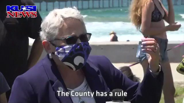 """San Diego City Councilmember @CMJenCampbell demands the County Sheriff arrest """"people who aren't wearing masks"""" and """"who aren't distancing.""""  Campbell defended her demand using fear claiming, """"this is the worst virus in the history of medicine.""""  More:"""