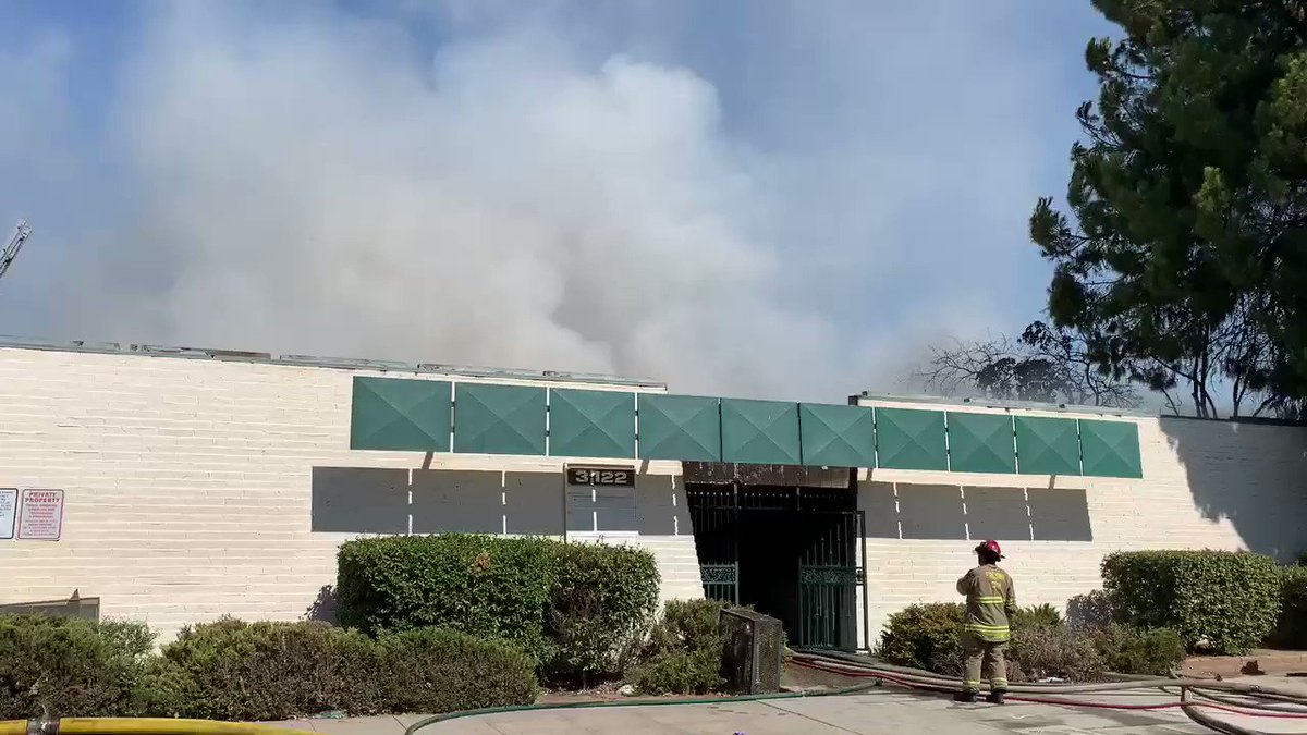 Fresno Fire on scene, 2nd alarm commercial structure fire, site of previous fires