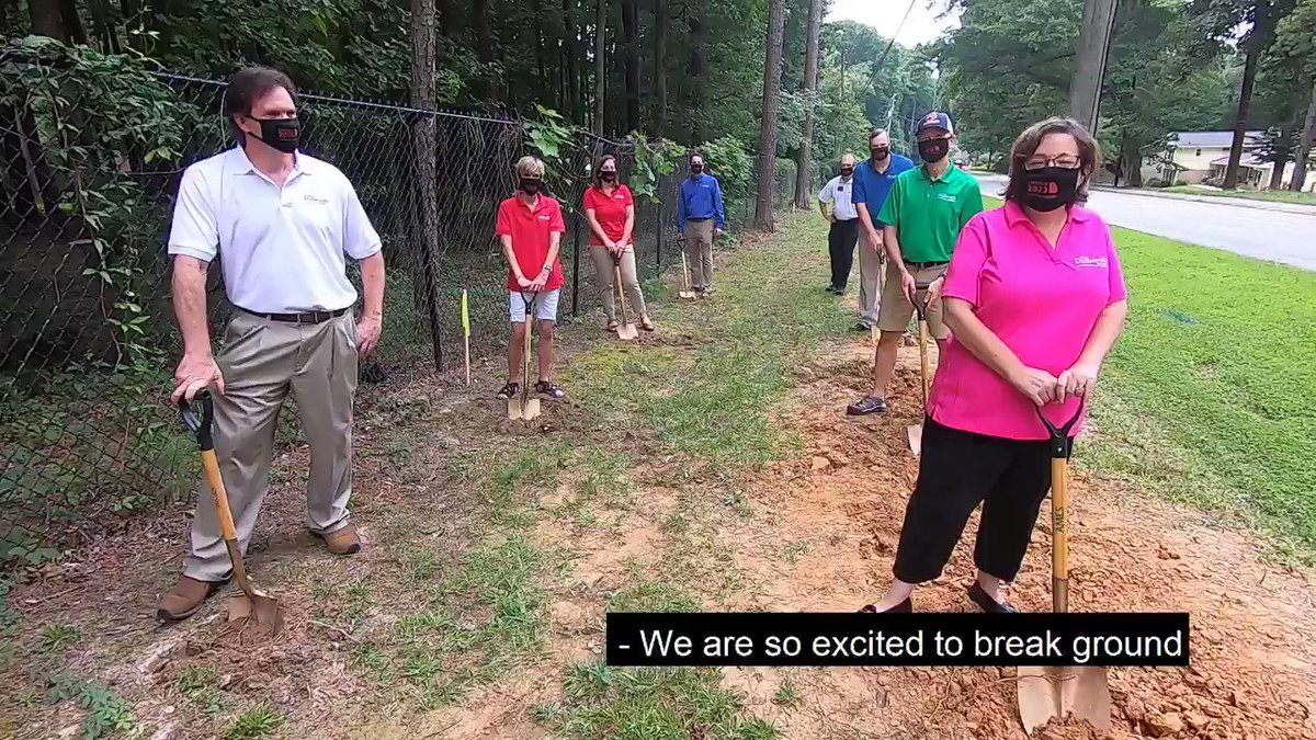 The City of #Dunwoody is adding enhancements to its pedestrian safety network with a new sidewalk on Peeler Rd. Dunwoody's Mayor + Council held a socially-distanced groundbreaking yesterday. Construction is scheduled to begin this month. Details: