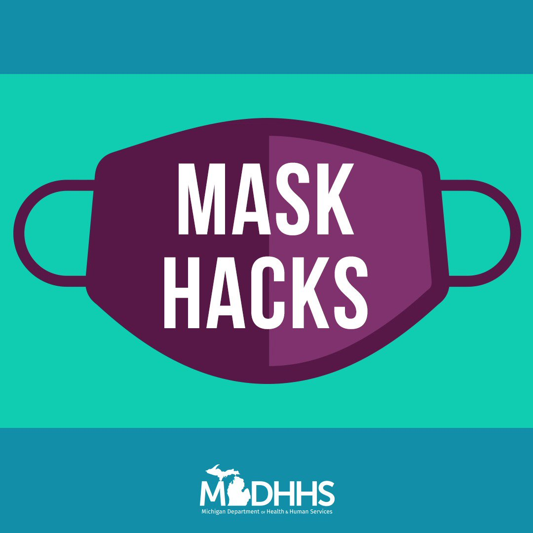Having more than one mask allows for ample time to wash the others.  You should wash your mask in hot water after each use (or replace if you are using disposable maks) #maskhack