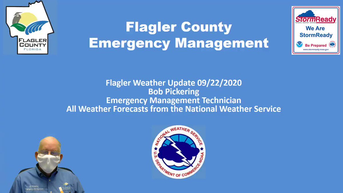 9/22/2020 - Flagler Weather Update - Slowly improving but more rain this weekend.