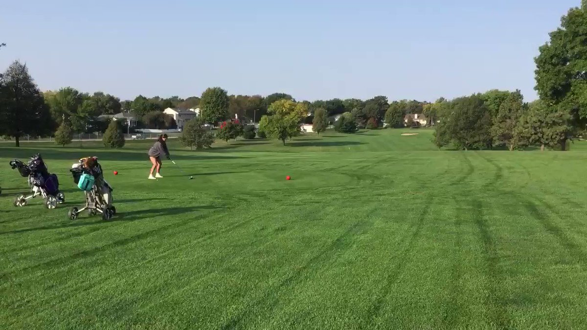 RT @ladytbirdgolf: Callie Christian with a great tee shot to start her day at Lincoln East Invite