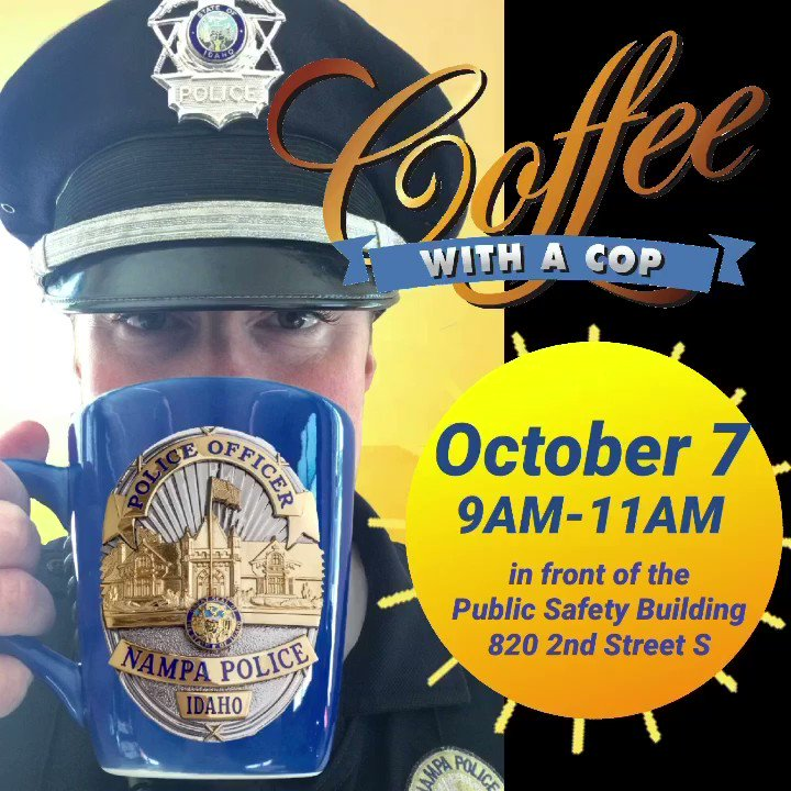 Join us Oct 7, 9am-11am for #NationalCoffeeWithACop Day in front of the Public Safety Building, 820 2nd Street S Bring your questions and enjoy coffee from Slow River Coffee with us. Traffic Officers, K9, 911, Crime Prevention, Child Safety Seat Tech, drones and MORE! #Community