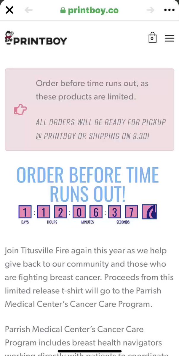 Have you ordered yours?! Time is limited! @ParrishFdn @PrintboyCo @Titusville