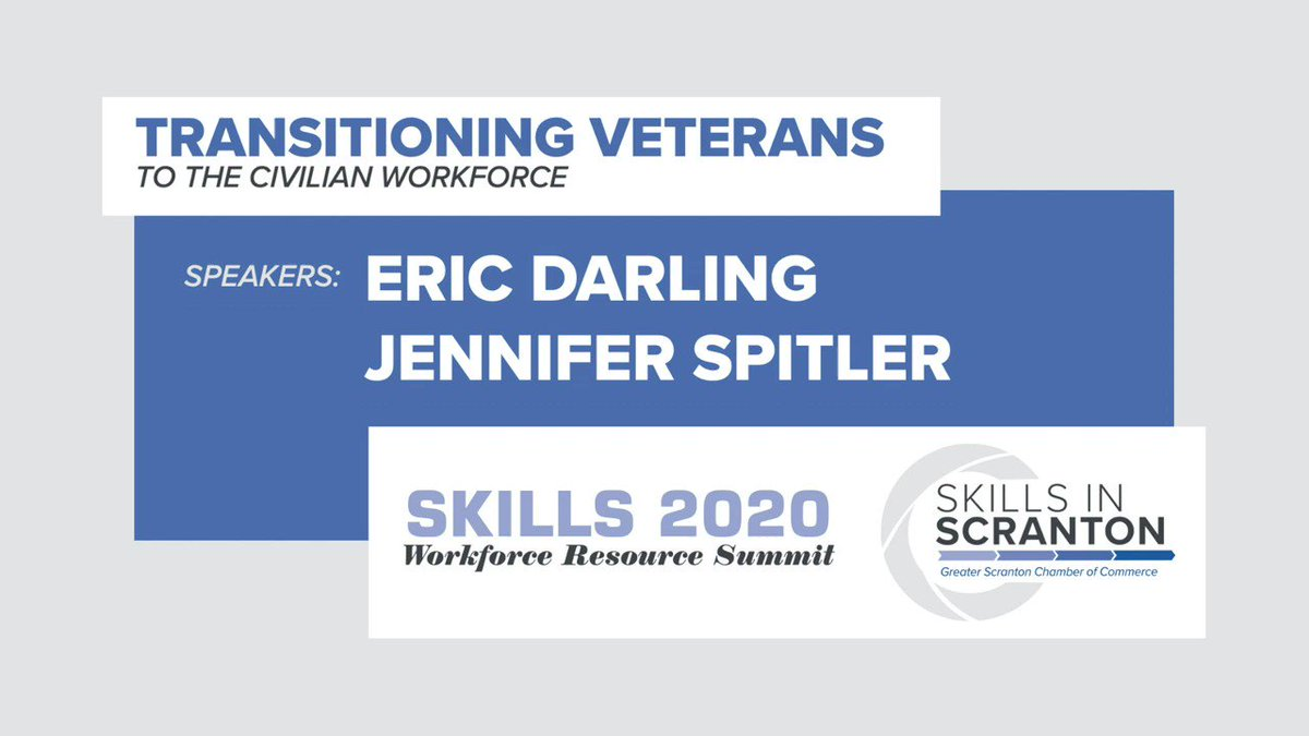 """There are some strong attributes that veterans have regardless of age.""  Join us September 29 for the virtual SKILLS Workforce Resource Summit. Learn more and register:   #WorkforceResourceSummit #ScrantonWorkforce"