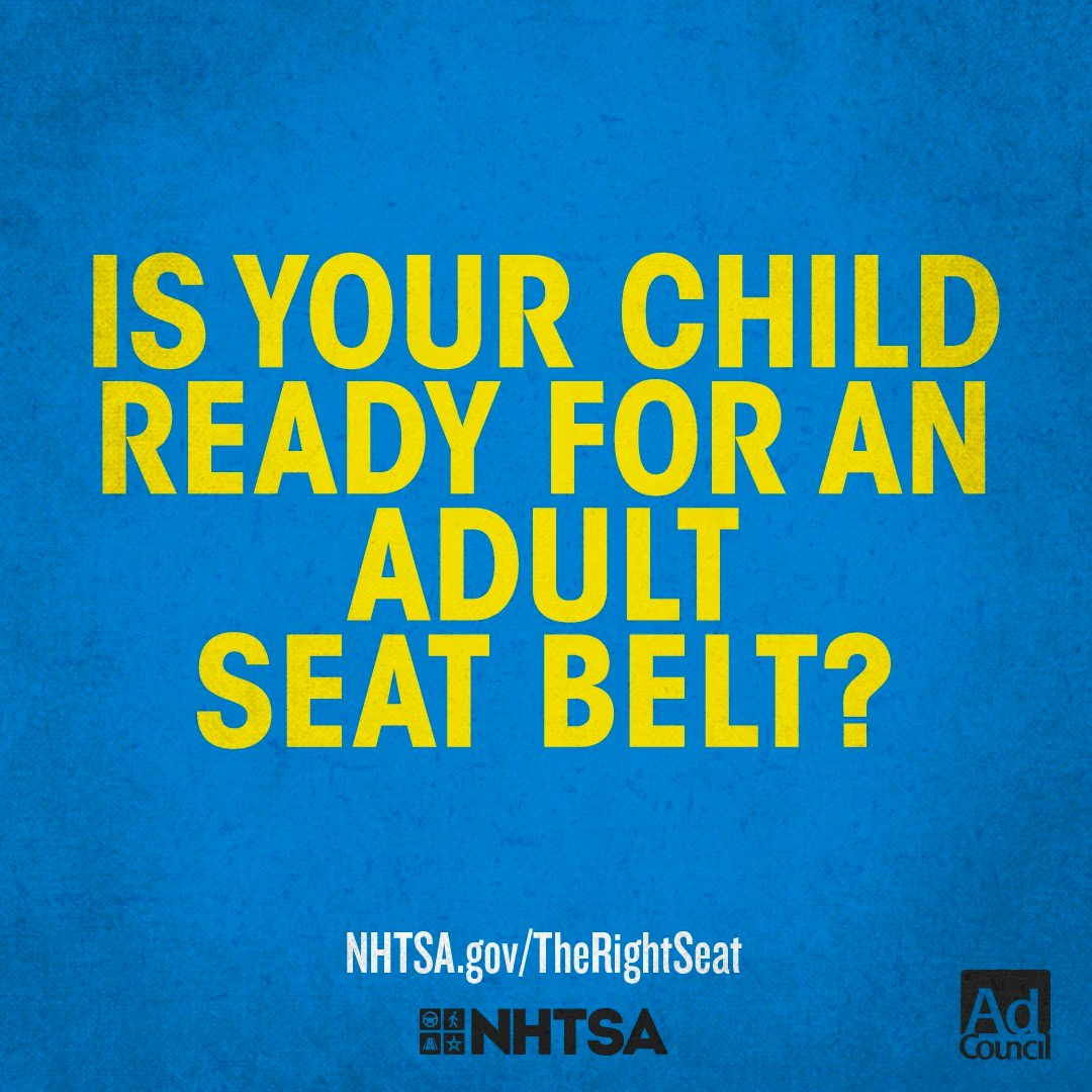 Early transition from a booster seat to a seat belt is common, but extremely dangerous. A seat belt won't properly protect your child if the fit isn't correct. Are they ready? Learn more at  Have any questions? Email us at carseats@montcopa.org #CPSWeek2020