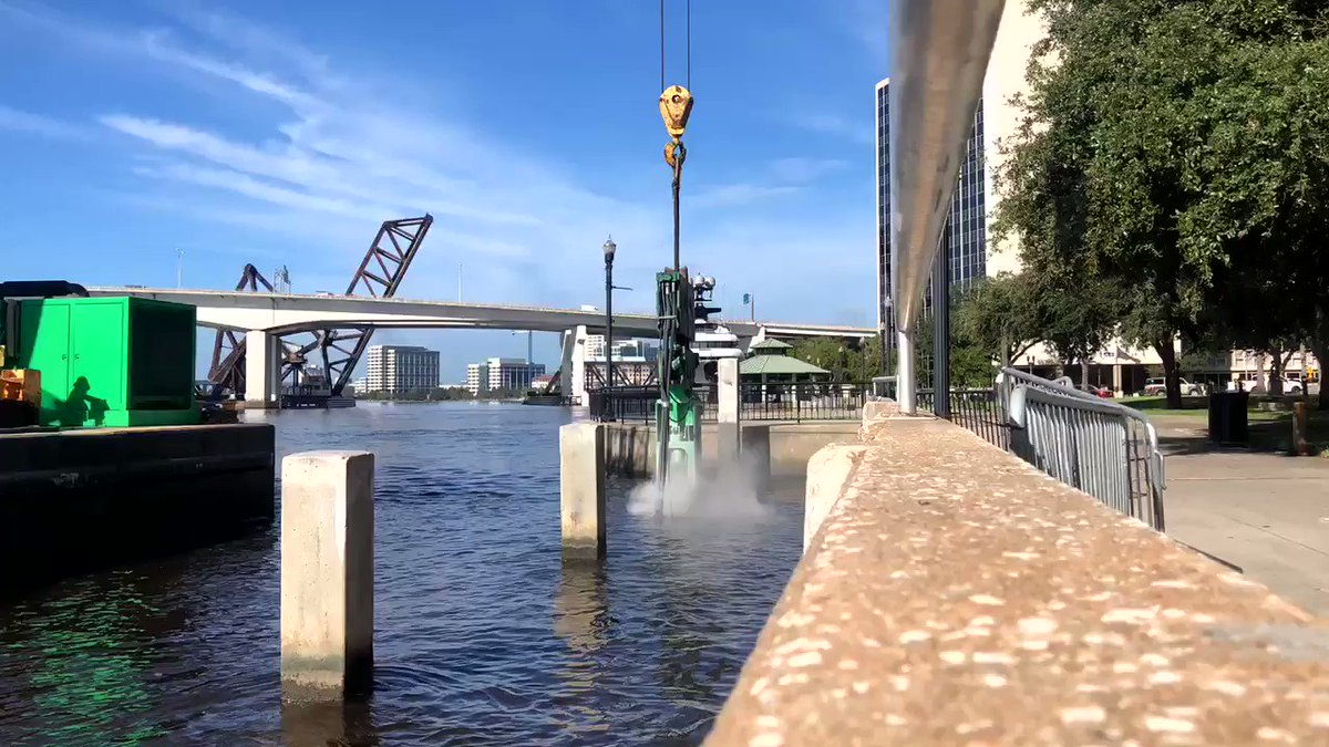 How do you pull pilings out of a river? It's tougher than it looks. Improvements to the Northbank river walk are underway.