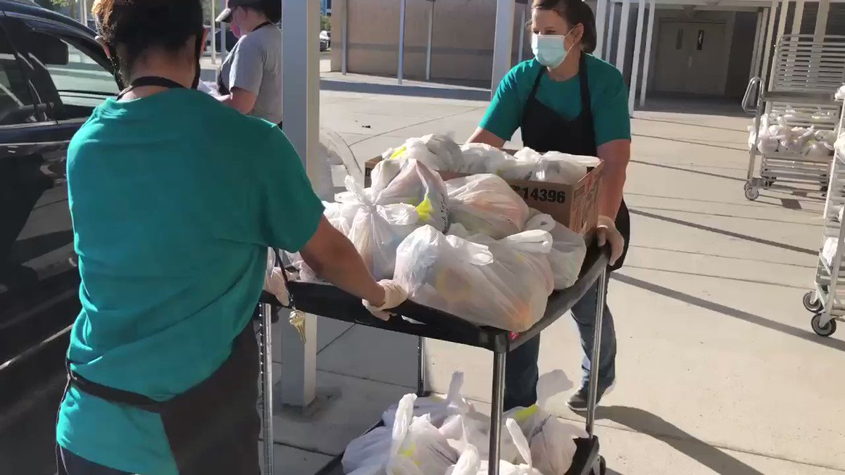 Today was Curbside Meal Pick Up Day at our schools. Thank you to our Food and Nutrition staff for their hard work! More information can be found here.