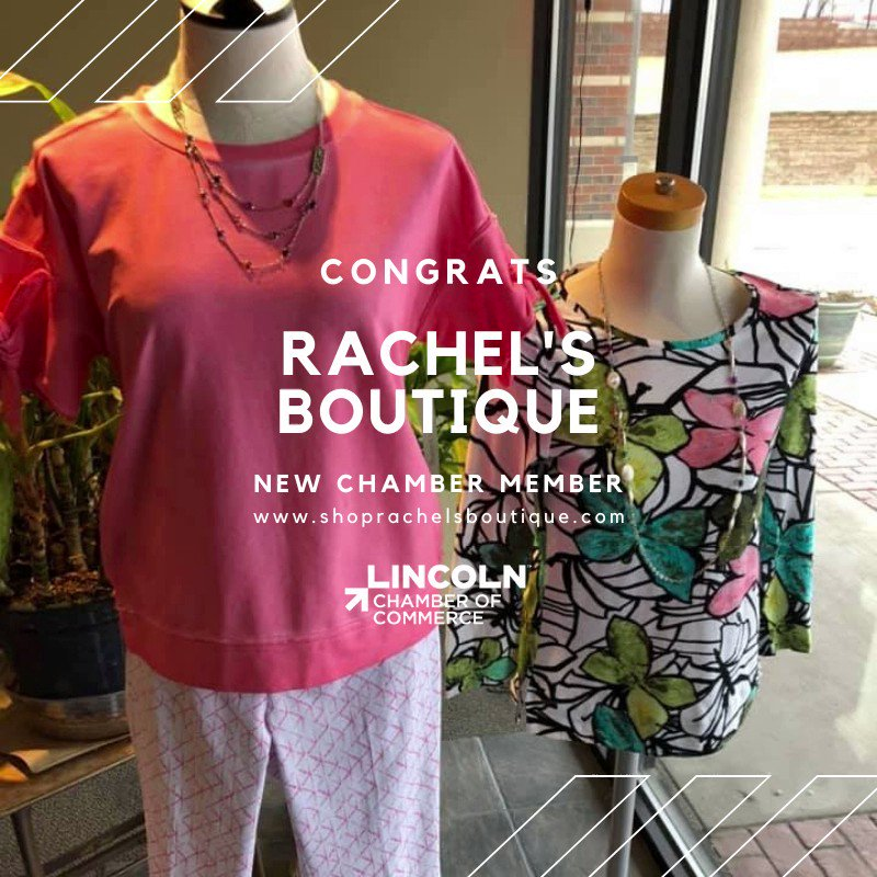 We're excited to welcome Rachel's Boutique to the Lincoln Chamber! They're a locally-owned women's clothing, jewelry & accessory store. They carry a wide variety of fashion lines, & they get new arrivals every week! To learn more, visit . #WeChooseLincoln