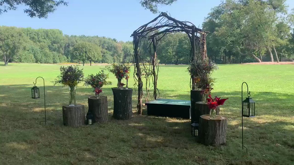 The first of today's Promises in the Park wedding ceremonies is getting underway at 11:30! Join us on Facebook for a live stream: