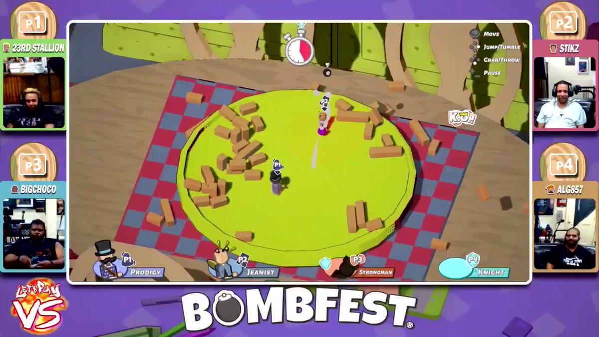 Stikz is not a fan of ALG857's chain reaction plan 🤣@PlayBOMBFEST @ZacFierce #bombfest #zacfierce #indiedev #nindies #indiegames #indie #nintendoswitch #level857 #partygame #bombs #versus #VS #multiplayer via #youtube