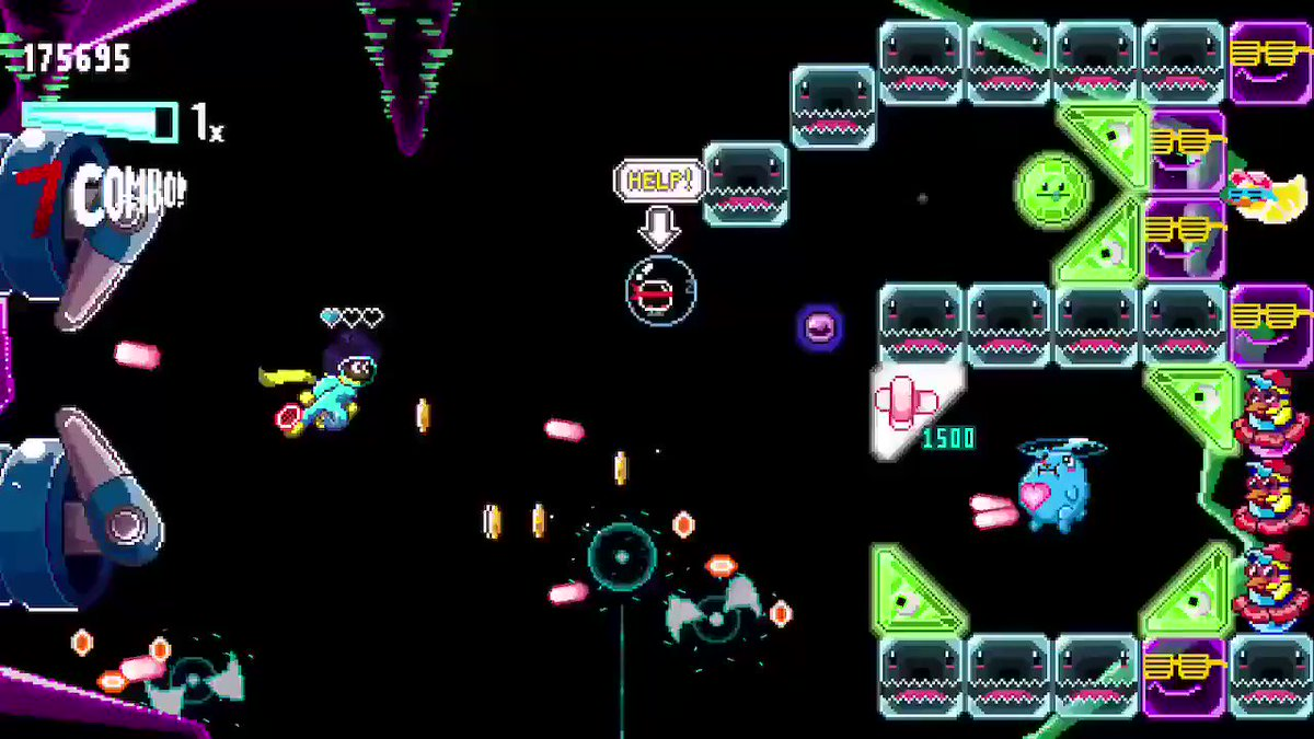 Randall & Kevin have been playing a bunch of #SkyRacket from @DoubleDashSTU and we'll definitely be talking about it on the podcast in the future!  If you like quirky #shmups, you've gotta check this game out!  🎥   #shmup #bullethell #arcadegames #pixelart