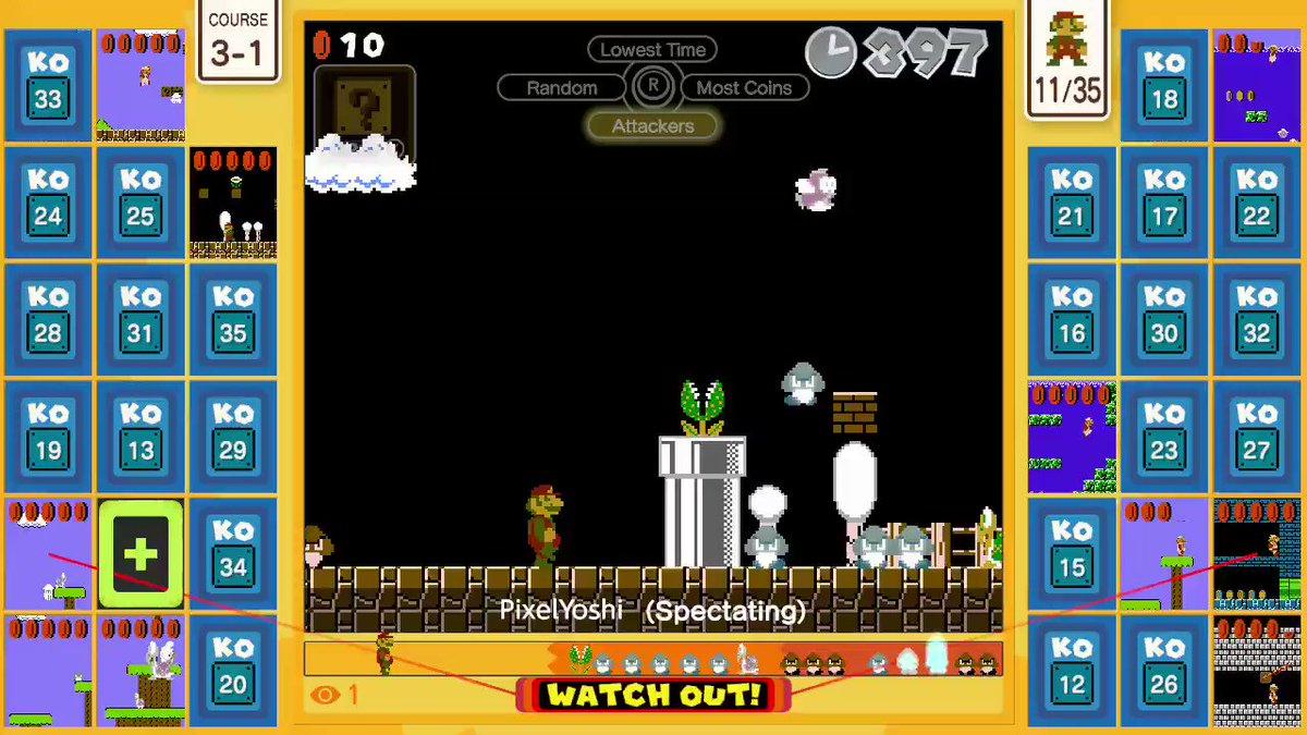 Watch my friend goooo!! @pixelatedyoshi #SuperMarioBros35 #NintendoSwitchOnline #NintendoSwitch