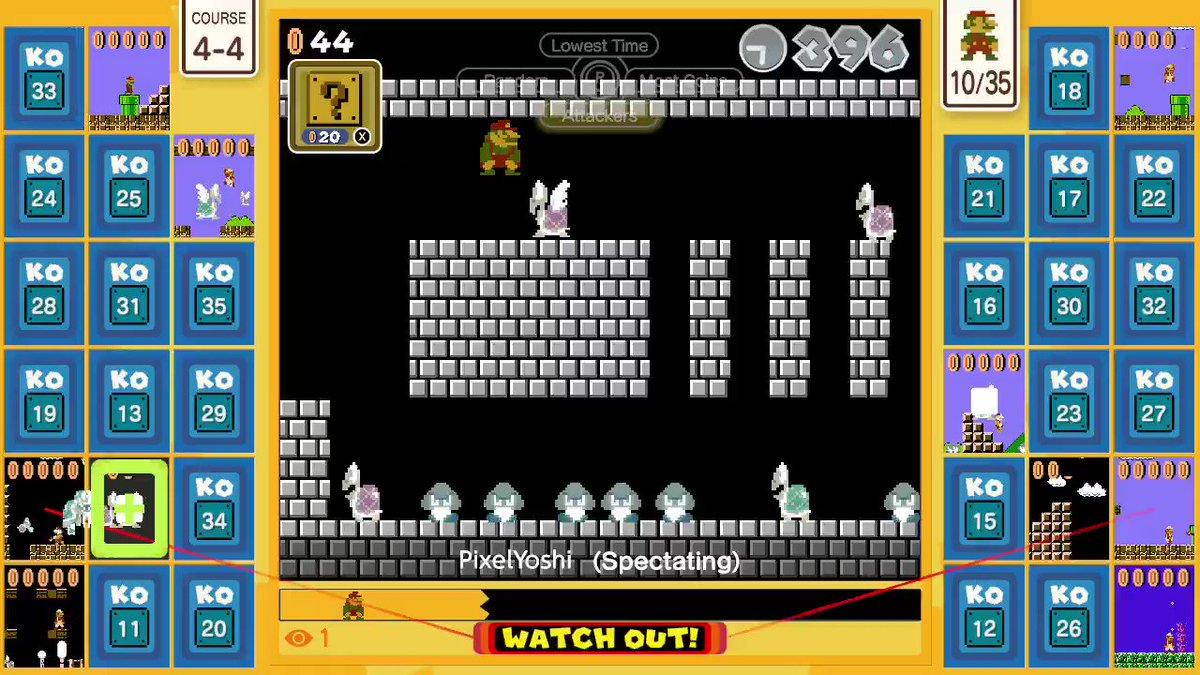 Watch my friend till the end @pixelatedyoshi #SuperMarioBros35 #NintendoSwitchOnline #NintendoSwitch