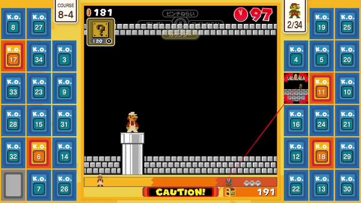 ここ、クリアの仕方おぼえとらんのよーー(~_~;)  粘り勝ち↑↑  #SuperMarioBros35 #NintendoSwitchOnline #NintendoSwitch