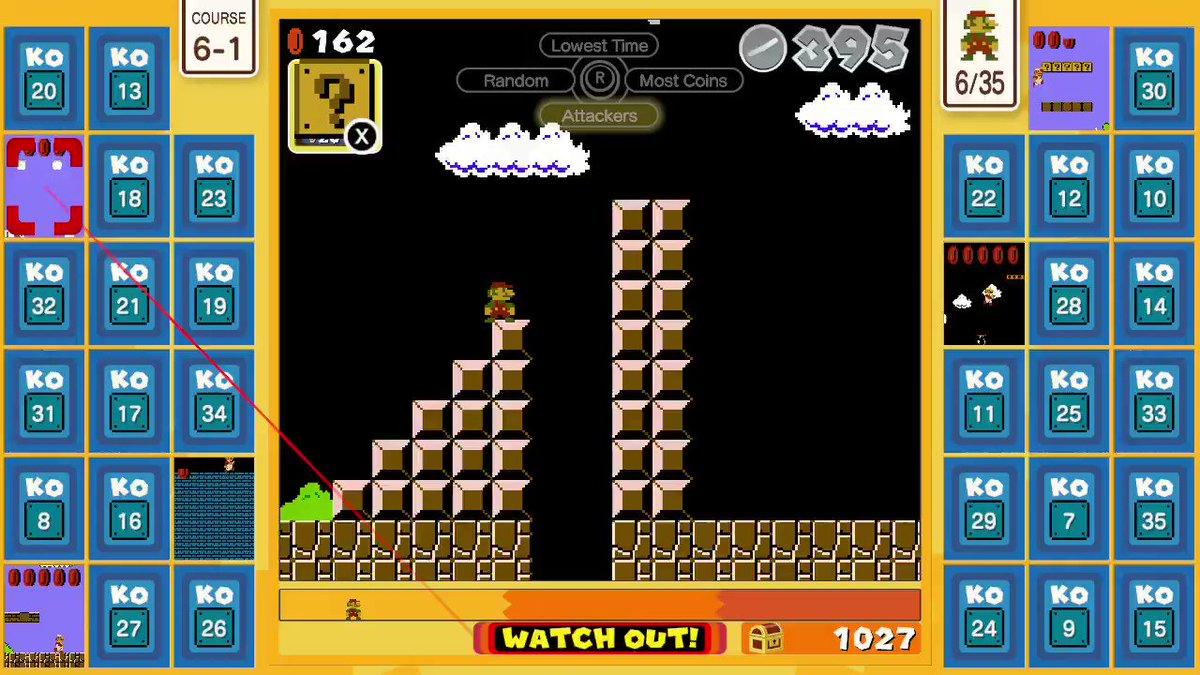 Got a mushroomat the same time the hammer hit me. Weird bug... #SuperMarioBros35 #NintendoSwitchOnline #NintendoSwitch