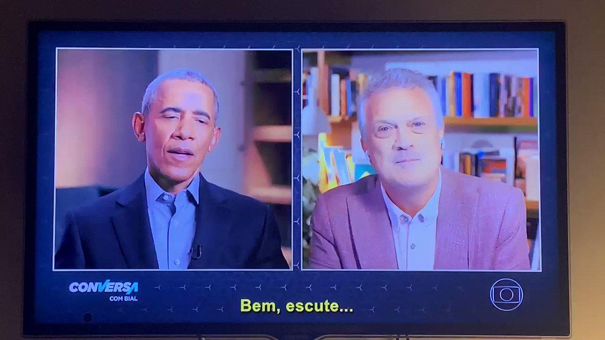 Obama elogia Dilma e Lula ao apontar negacionismo científico do Bolsonaro.