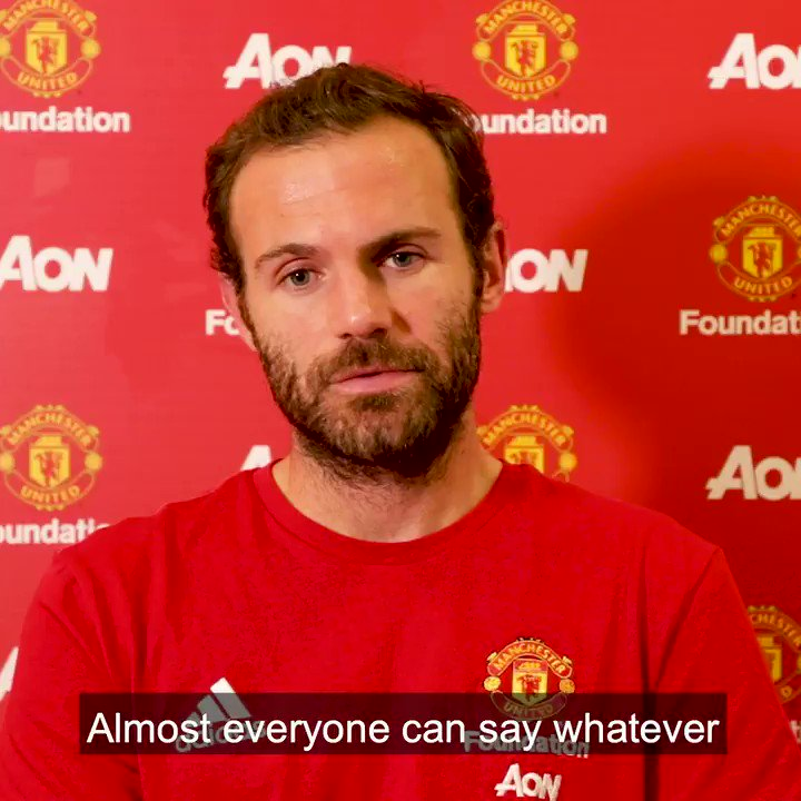 As part of #AntiBullyingWeek, @ManUtd ace @juanmata8  shares his thoughts on dealing with negative comments both online and in school. 💭  #UnitedAgainstBullying @ABAonline