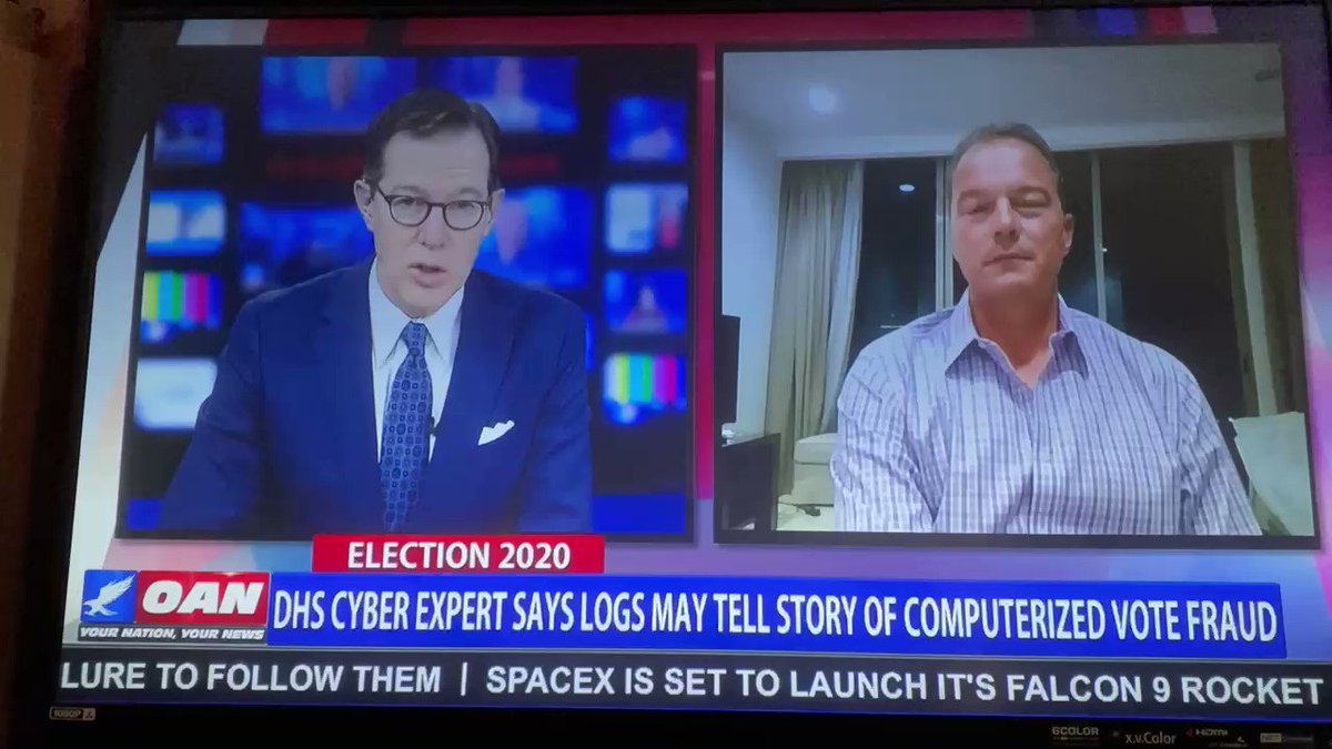 How is a software update made on the night of the election to machines that are not supposed to be connected to the Internet? Just asking…