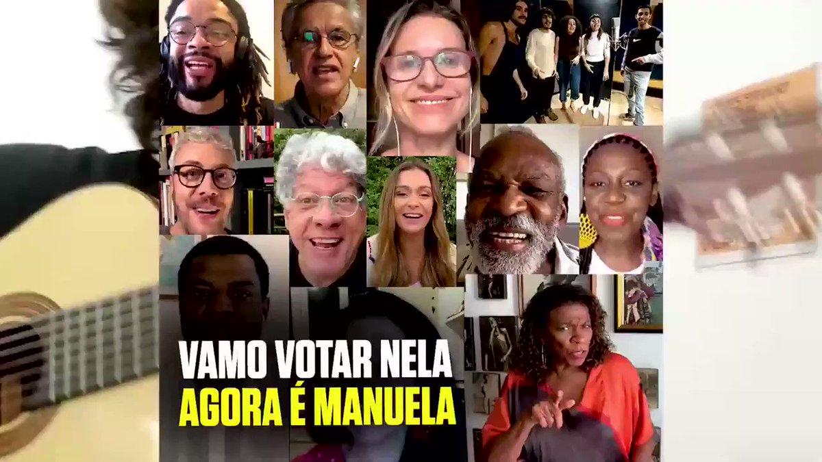Vamo votar nela agora é @ManuelaDavila .  Ligue para seus amigos de Porto Alegre. Vamos juntos eleger a primeira prefeita da cidade.  #Caetanoveloso #Vira65 #AgoraéManuela65
